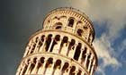 Leaning Tower of Pisa, low angle view