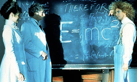 Yahoo Serious explains the theory of relativity in Young Einstein