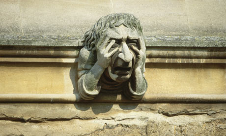 Sad Oxford gargoyle