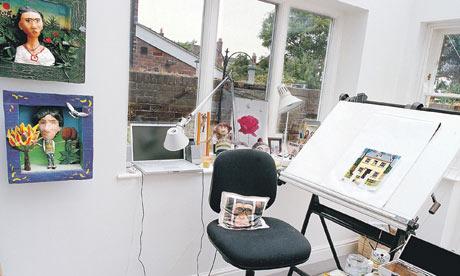 Anthony Browne's studio