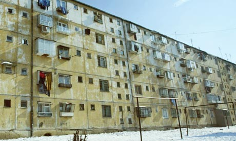 A block of flats outside Bucharest