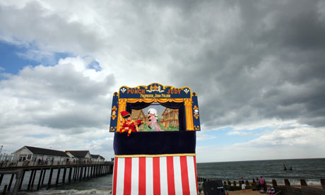 Punch and Judy show in Southwold