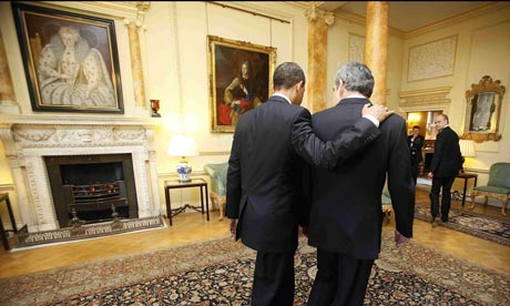 Gordon Brown with Barack Obama