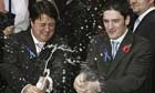 Nick Griffin and Mark Collett after winning a court case in 2006