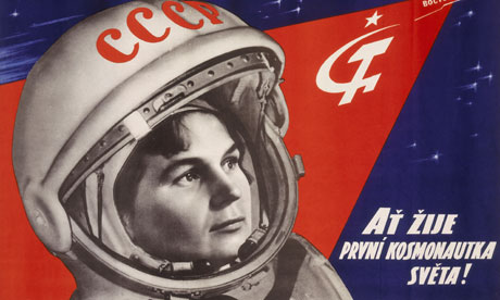 Poster celebrating the first woman cosmonaut