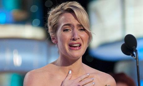 Kate Winslet at the Golden Globe awards