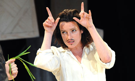 Surface male  Katy Stephens as Rosalind/Ganymede in a 2009 RSC version of As You Like It.