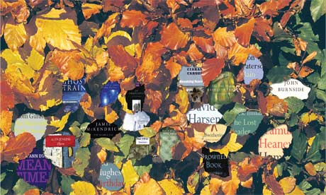 Collection titles on background of autumn leaves