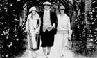 PG Wodehouse with his wife and daughter at Le Touquet in 1924