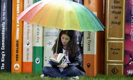 Teenage girl reading at the Hay Festival. What would be on your reading list ...