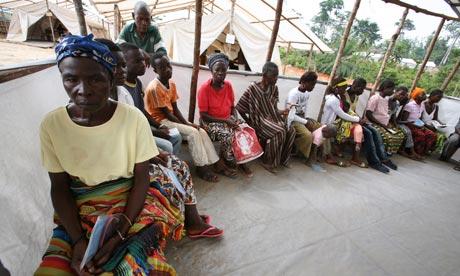 Ivory Coast refugees in Liberia women