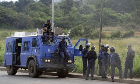 Swaziland's policemen