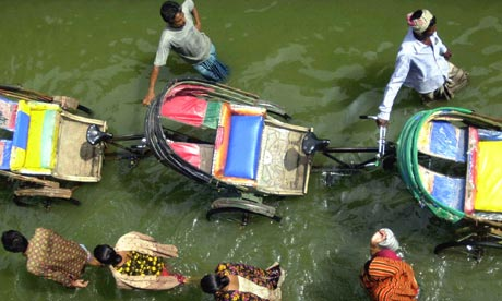 Dhaka flooded street