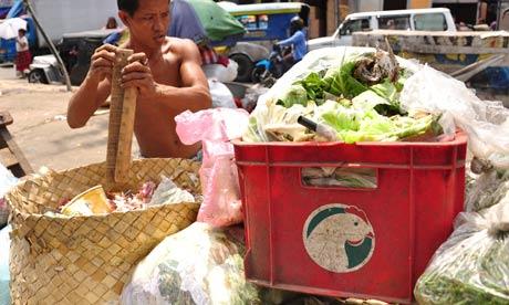 A Filipino scavenger  Manila