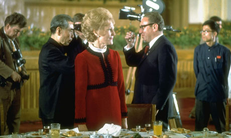 Henry Kissinger in China with Zhou Enlai and Pat Nixon