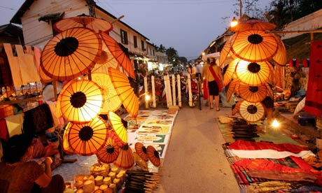 Handicraft products for sale laos