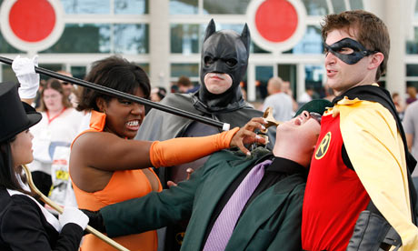 Super troopers ... attendees in costume at the 2009 San Diego Comic Con. Photograph: Denis Poroy/AP