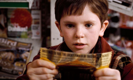 Charlie Bucket in the film version of Charlie and The Chocolate Factory