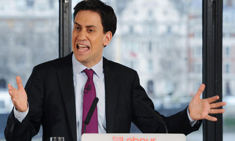 Miliband gives a speech