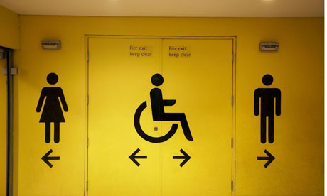 Disabled bathroom sign