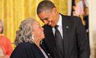 Barack Obama and Toni Morrison