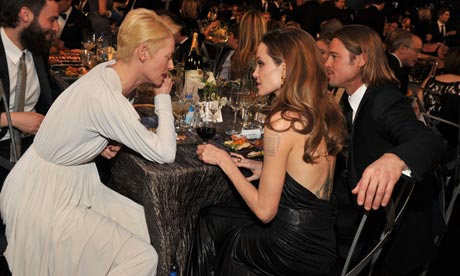 Tilda Swinton, Angelina Jolie and Brad Pitt