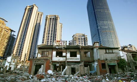 Houses among the rubble off the Changshu Road, Shanghai
