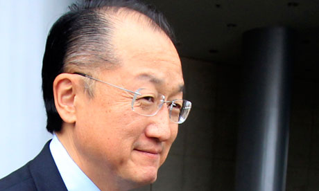 The new World Bank president, Jim Yong Kim
