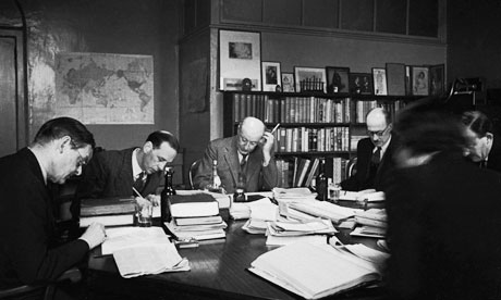 A meeting of the board of directors at publishing house Faber &amp; Faber