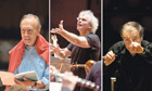 Claudio Abbado, Simon Rattle and Valery Gergiev conducting