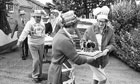 Villagers preparing for a jubilee celebration in 1977