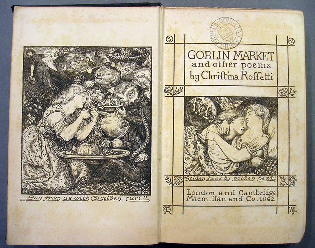 an analysis of goblin market a poem by christina g rossetti R~~l)~o-~y~j g~~~n~g~mlj christina rossetti's goblin market illustrates her  religious belief as well as her feminist resistance  they leave their caged  conditions, but the poet's conclusion is much more optimistic and  medical  examination to ascertain whether she was, in fact, infectious where.