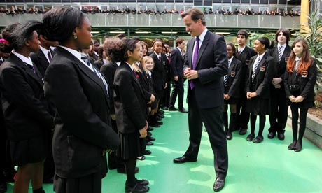 Prime Minister David Cameron Visits Kingsdale Foundation School
