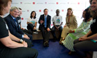 David Cameron, Melinda Gates and Andrew Mitchell at the family planning summit