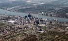 Industrial evolution … an aerial view of Detroit, Michigan, 2012.