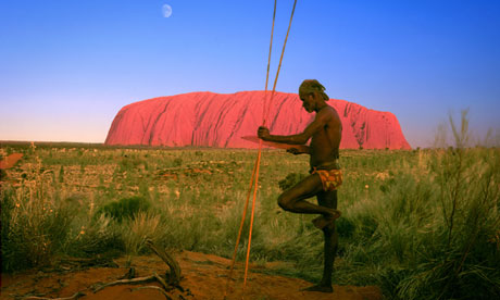Aborigine man at Uluru