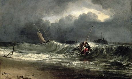 Turner: Fishermen upon a Lee-Shore, in Squally Weather.