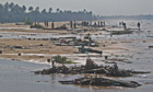Hikkaduwa, in southern Sri Lanka, after the 2004 tsunami