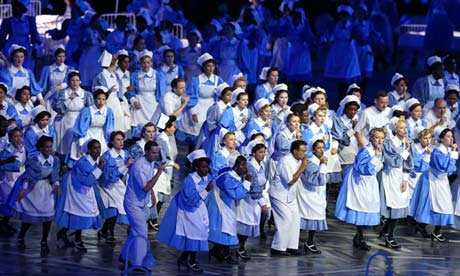 NHS nurses at London 2012 Olympics opening ceremony