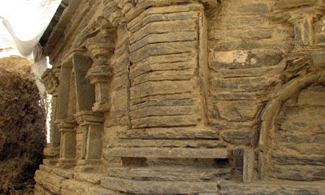 A Buddhist stupa – commemorative monument – inside a monastery at Mes Aynak.
