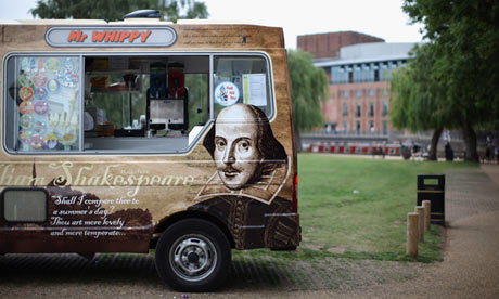 An ice-cream van at Stratford upon Avon