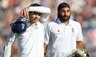 Out of the Ashes … James Anderson and Monty Panesar withstood Australia's bowling attack for 11.3 ov