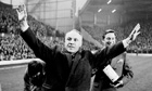 Bill Shankly waves to the Anfield crowd in 1971