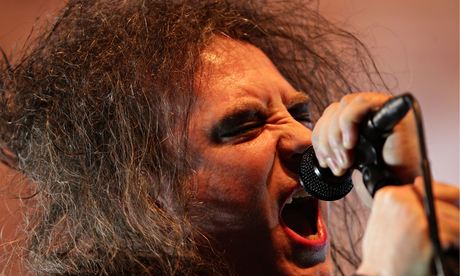 Robert Smith of the Cure at the Royal Albert Hall. Photograph: Yui Mok/PA