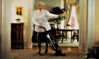 Robin Williams as Mrs Doubtfire in the 1993 film.
