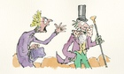 Quentin Blake Willy Wonka illo