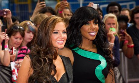 X Factor judges Tulisa Contostavlos and Kelly Rowland