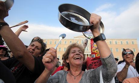 Greek Protestors on Parliament Square