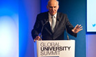Vince Cable MP speaks at Global University Summit