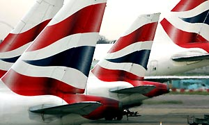 British Airways. Photograph: Tim Ockenden/PA